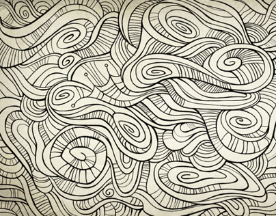 Hand drawn doodles background