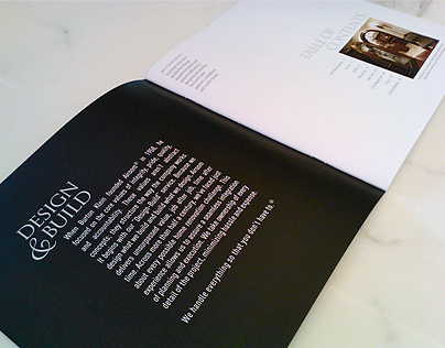 Brochure for a High End Architecture Company (20pg)