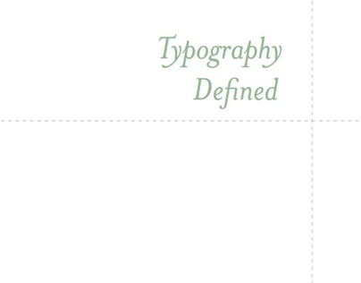 Typography Defined