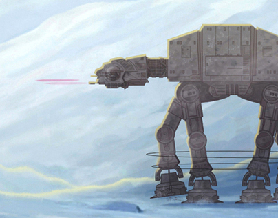 Star Wars AT-AT Walker Takedown