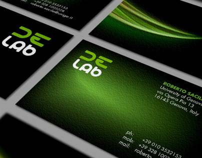 DE-Lab - Logo design & Corporate identity
