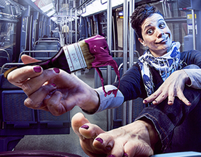 Mom and nails art in underground