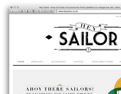 Branding & Website design for Hey Sailor, Online Shop