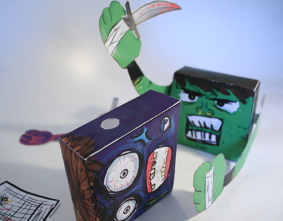Paper toy: kill the monster game