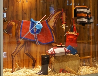 Stable (Horse Parade II) - Hermès Window Display