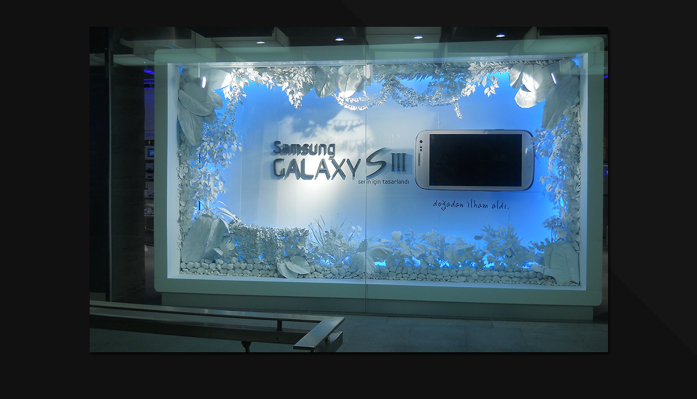Samsung Galaxy S3 for Turkcell Shop Window Design