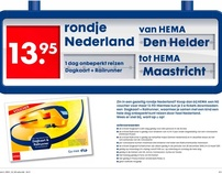HEMA Joint promotion NS trainticket voucher
