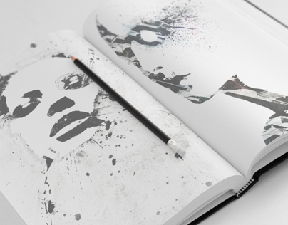 Sketch Book Mock-Ups - Set 01