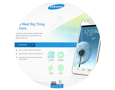 Samsung Homepage Exploration