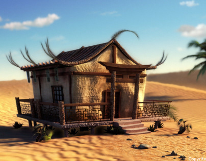 Japanese house in the Saudi desert