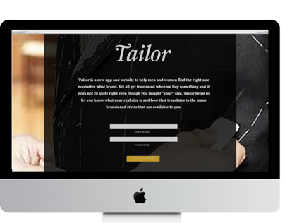 Tailor Clothing Size App