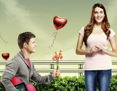 Retouch Photoshop Valentines | Dia dos Namorados