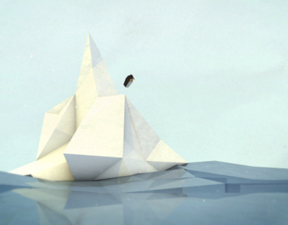 Paper Penguin // 5sec Animation