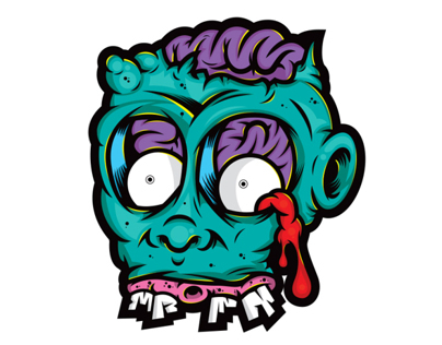 Danger Brain x Baker2d stickers