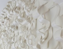 Waves, Ceramic Wall Installation