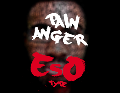 Typographic Portrait: Pain & Anger