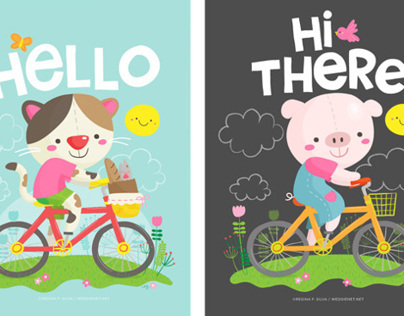 Biking animals collection