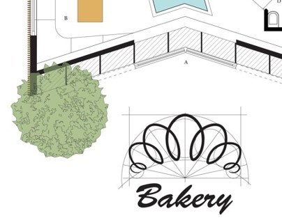 Bakery-shop plan and Logo
