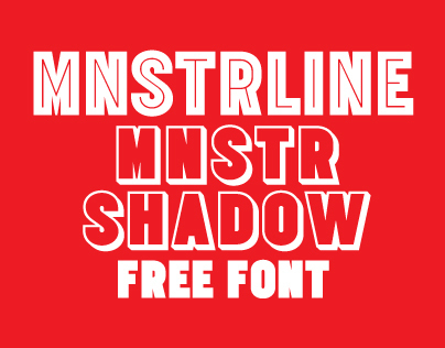 MNSTRLine MNSTRShadow Free fonts