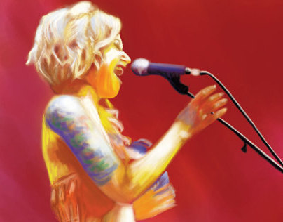 Digital Painting for NZ Music Awards Poster