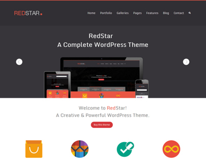 RedStar - A Flat UI WordPress Theme