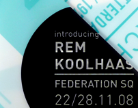 Rem Koolhaas Exhibition Poster