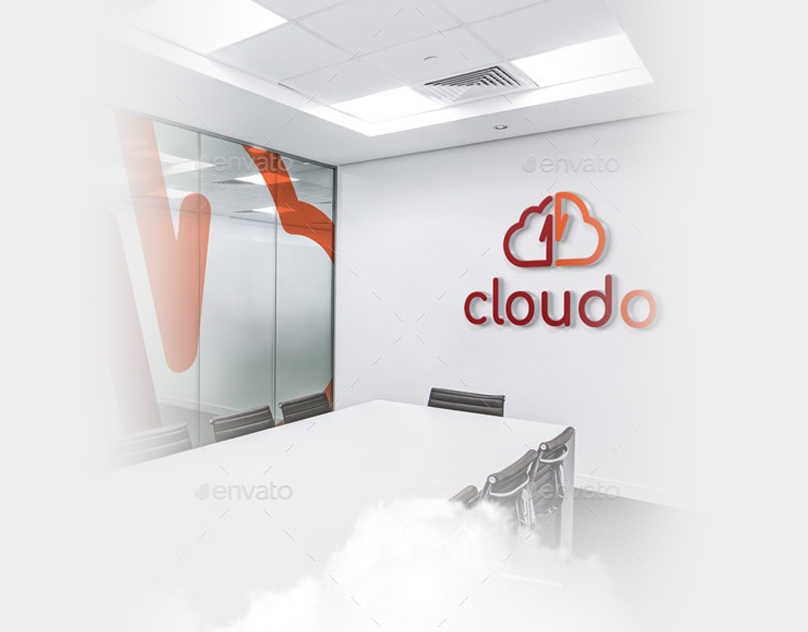 Cloudo Cloud Storage Logo Template