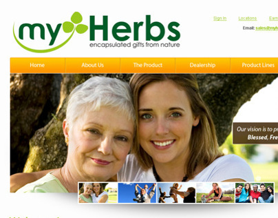 myHerbs Website Design Concept