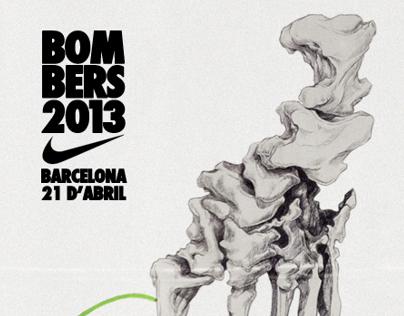 NIKE : Cursa BOMBERS 2013
