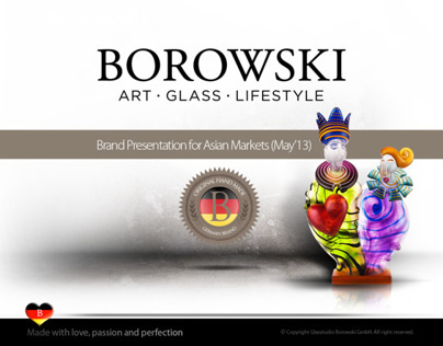 Borowski Brand Presentation 2013 in Asia (sample pages)