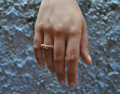 wood&copper rings collection
