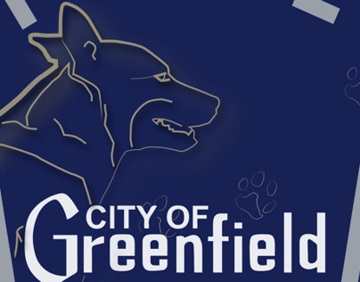 K9 Unit Patch for the Greenfield Police Department