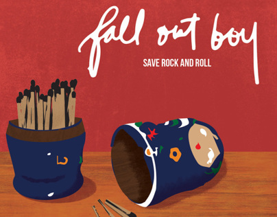 "Fall Out Boy Album Art Concept—""Save Rock and Roll"""