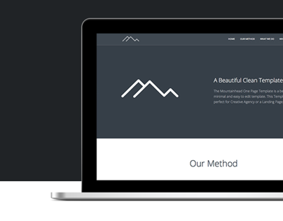 Mountainhead - Responsive One Page HTML Template