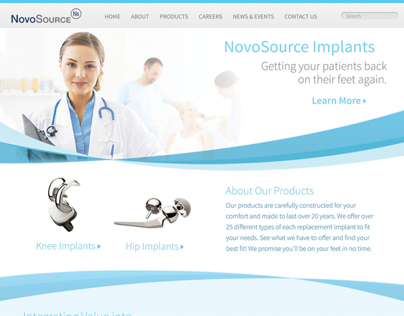 NovoSource website // Extern project