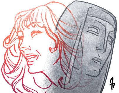 Neil Gaiman Feminine Endings illustration