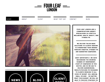 Four Leaf Web Design - Work in Progress