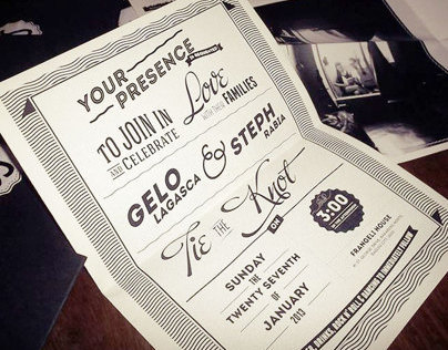 Gelo & Steph Wedding invites