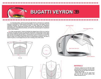 Bugatti Veyron Display Stand Design