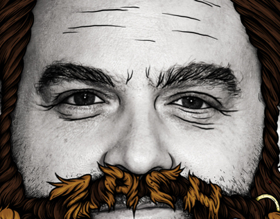 Zack Galifianakis, Nuts Magazine Illustration