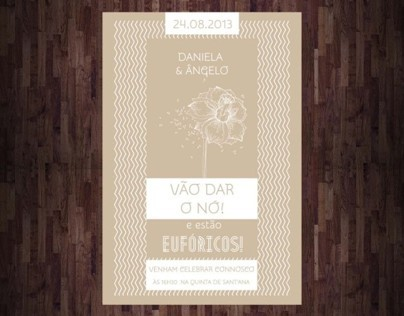 Daniela & Ângelo Wedding Invitation