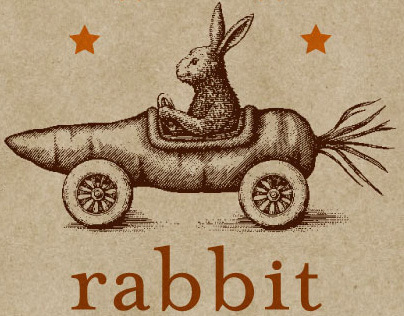 Rabbit Restaurant Logo Illustrated by Steven Noble