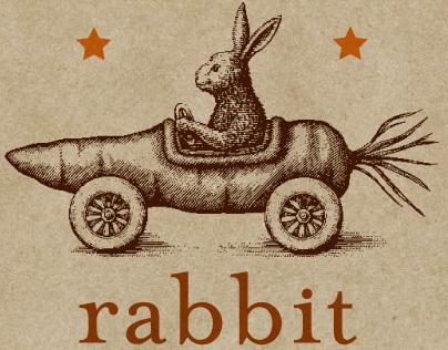 Rabbit Restaurant Logo Illustrated by Steven Noble