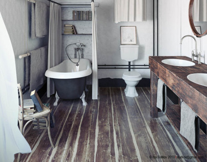 shabby bathroom