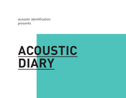 Acoustic Diary Book and Flash Application