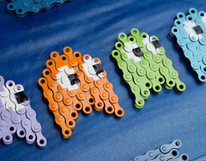 BikeArt / Collectible Bicycle chain keychains
