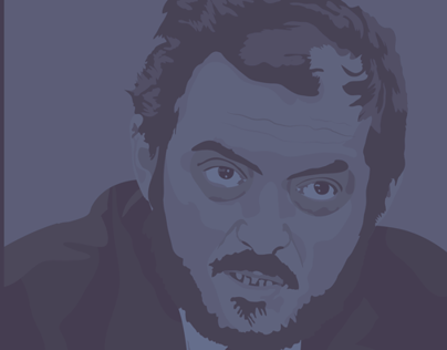 Stanley Kubrick Illustrated Portrait