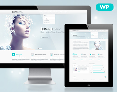 Domino White Responsive WordPress Theme