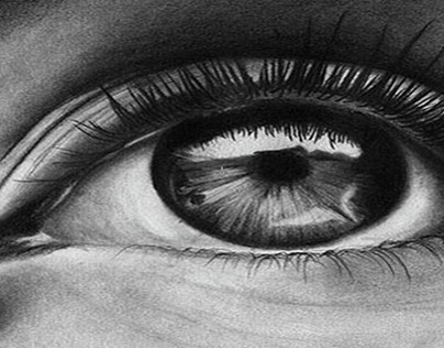 vision- pencil and charcoal drawing