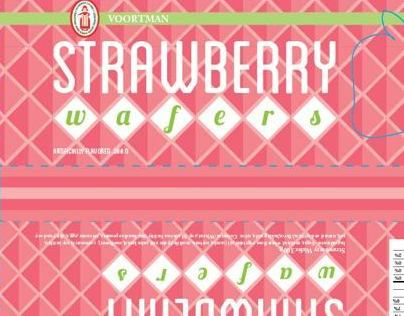 Voortman Strawberry Wafers Package Redesign
